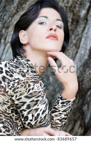 Fashionably dressed woman in the Italian style /Italien-Fashion Herbst / Winter