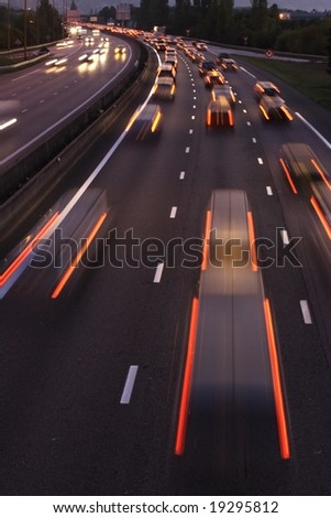 Fast cars - stock photo
