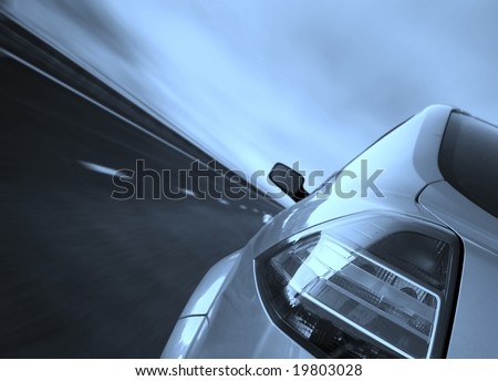 Fast driving on the highway.
