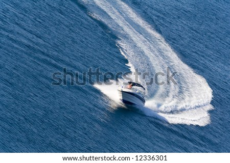 fast driving yacht on the ocean