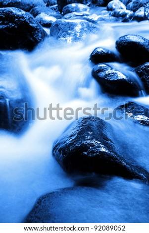 Fast flowing rocky stream