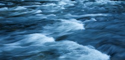 fast-flowing water background, long exposure