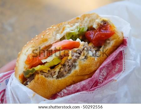 Fast food burger - stock photo
