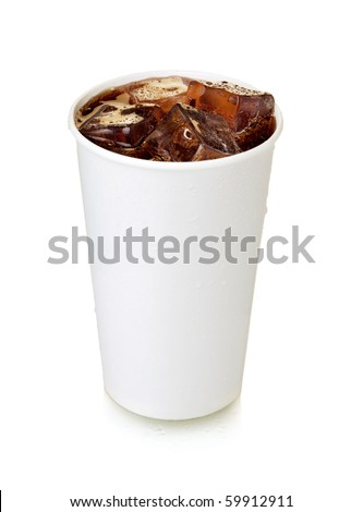 Fast food cola. Isolated on white