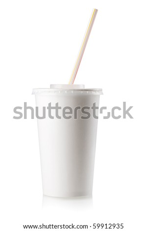 Fast food drink. Isolated on white - stock photo