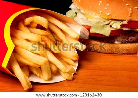 High-Speed Hamburger With Fast Fries Recipe — Dishmaps