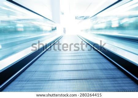 fast motion of escalator #280264415