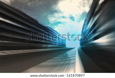 fast motion racetrack in business city wallpaper illustration #161870897
