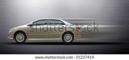 fast moving saloon car