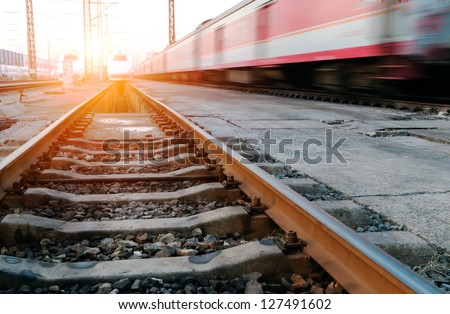 Shutterstock fast moving train