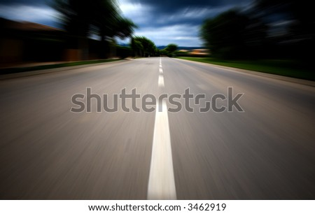 fast road to success with a motion blur effect