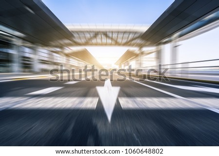 fast speed view of urban road #1060648802