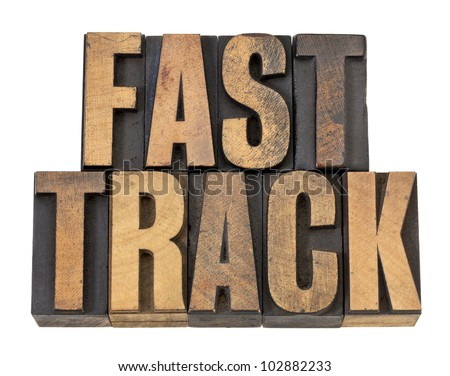 fast track   career concept  ...
