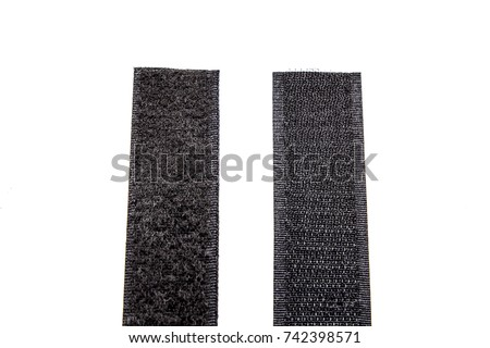 Photo of  Fastener Velcro tape isolated on white
