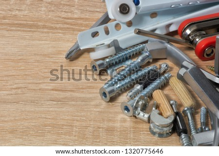 Fasteners and tools for furniture assembly #1320775646
