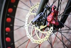 Fat Bike MTB hydraulic front disc brake, close-up
