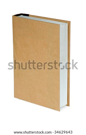 Fat book in paper cover. Isolated in white background with clipping path.