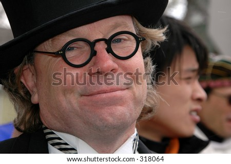 top hat cat. stock photo : Fat Cat with Top