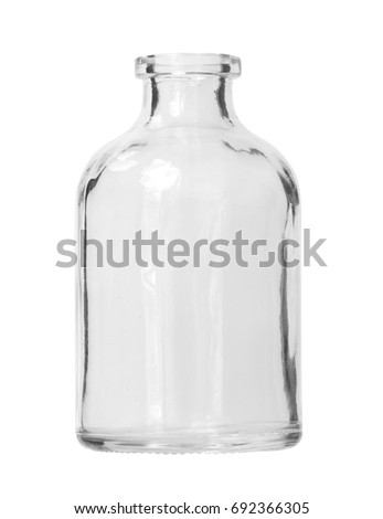 Fat Glass Bottle isolated on white background Clipping Path #692366305