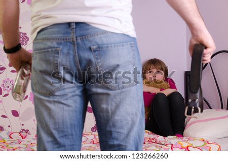 Father aggression after drinking alcohol