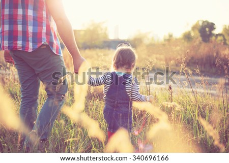 Father and baby spending time together