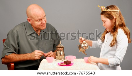 Father And Daughter Tea Party