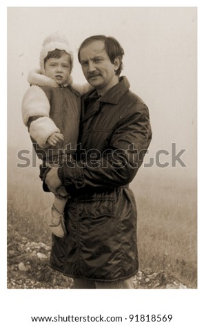father and son - photo scan - about 1970