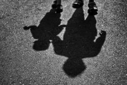 father and son shadow, bentong, pahang