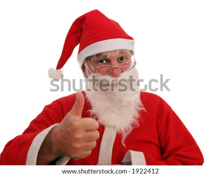 Father Christmas agreeing to your request
