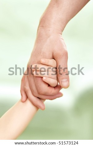 father giving hand to a child #51573124