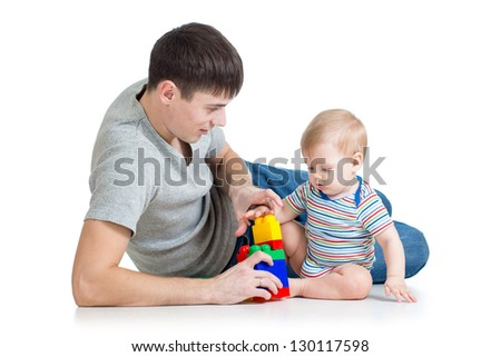 father playing with baby boy
