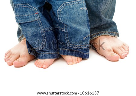 father's and son's feet