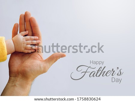 Father's Day is celebrated worldwide to recognize the contribution that fathers and father figures make to the lives of their children on isolated background.