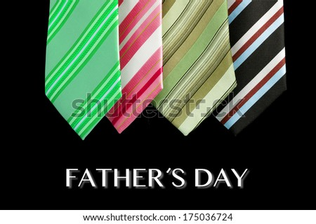 father's day tie card as greeting card with message