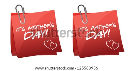 fathers and mothers day illustration design over a white background