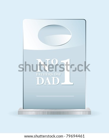 Fathers day award for the worlds best dad or pop