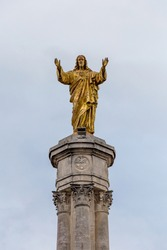 Fatima's Monument Of The Sacred Heart of Jesus in Portugal