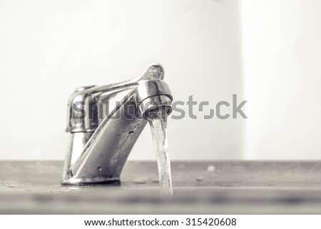 faucet and faucet water and water #315420608