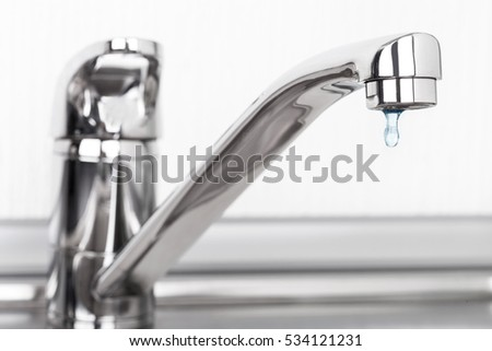 Faucet and water drop #534121231