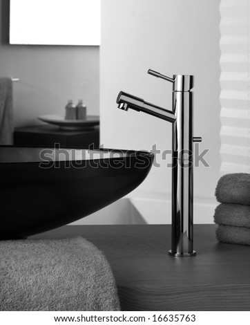 faucet  inside beautiful bathroom