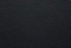 Faux leather texture background macro photo. Black.
