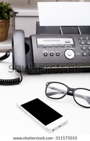 Fax machine, office equipment - Shutterstock ID 311575010