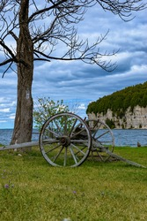 Fayette Historic State Park, Michigan State Park, Pure Michigan, Wagon by Snail Shell Harbor with the Dolomite Cli