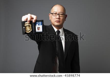 FBI agent with badge.