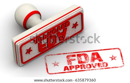 FDA approved. Red seal and imprint