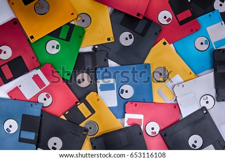 fdd disks background in the different colors