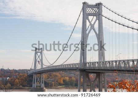 FDR Mid-Hudson Bridge, looking towards Poughkeepsie from Highland, NY.