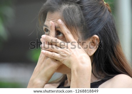 Fearful Old Filipina Person #1268818849