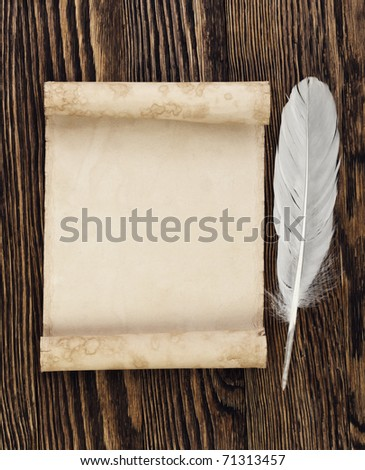 feather and letter