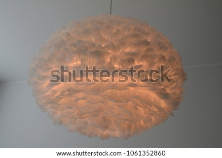 feather lamp, interior #1061352860